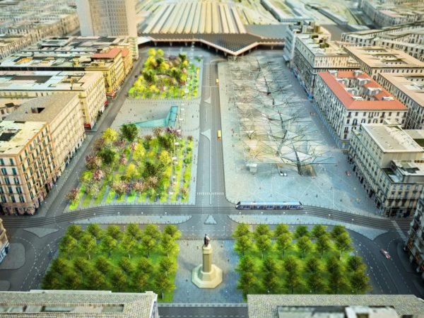 Napoli, Piazza Garibaldi: Lavori finiti riaperta la viabilità