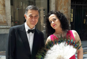 olga de maio e luca lupoli in concerto a palazzo caracciolo foto