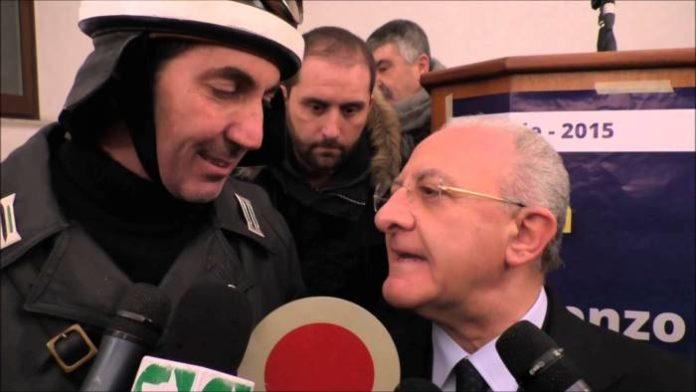 il presidente della regione campania Vincenzo De Luca