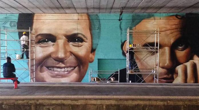 Ricominciamo da qui, una raccolta fondi per recuperare il murales per Troisi-Noschese