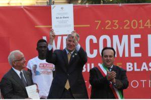 Benevento news: Bill De Blasio sindaco di New York. E' festa nel Sannio