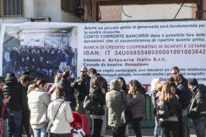 Cronaca di Salerno. Incendio Artecarta, raccolta fondi dei pasticcieri