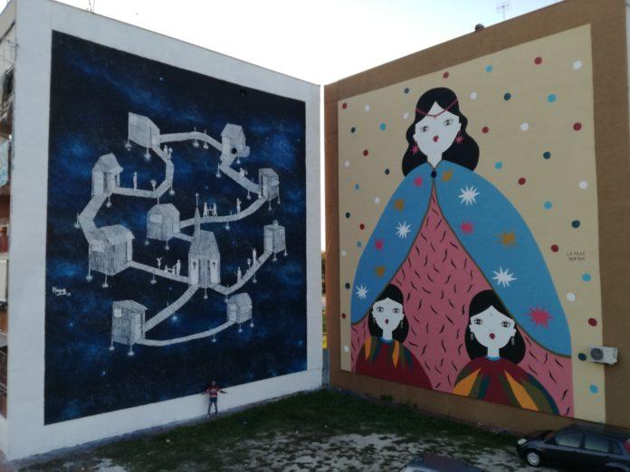 Ponticelli, nuova opera di street art dedicata a Pino Daniele