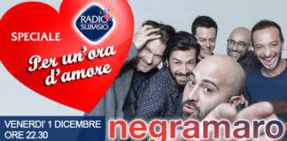 I Negramaro a 'Speciale per un'ora d'Amore' su Radio Subasio