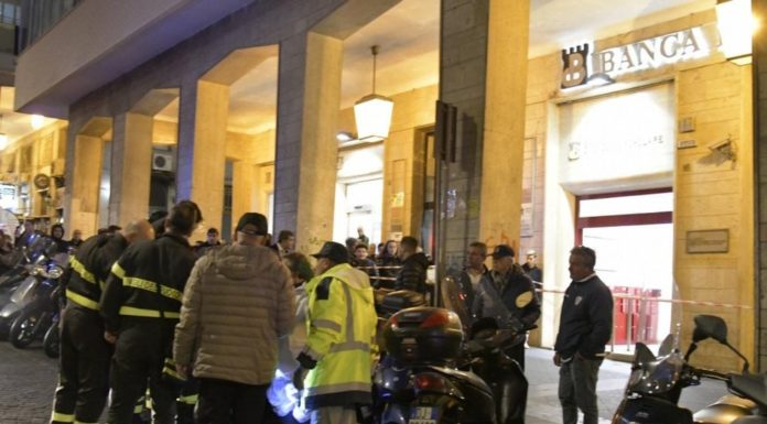 Cronaca di Napoli, rapina in Banca: ladri in fuga con ostaggi