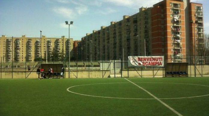 Comune di Napoli, inaugurazione campo di calcio a Scampia