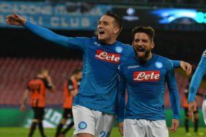 Calcio Napoli. Gli azzurri non mollano la Champions: 3-0 allo Shaktar