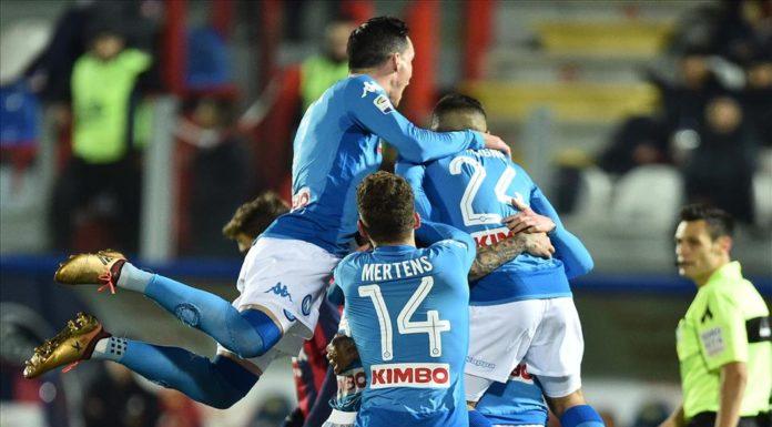 Crotone ko, il Calcio Napoli è Campione d'Inverno