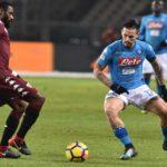 Calcio Napoli: gli azzurri battono il Torino 1-3. Festa per Hamsik