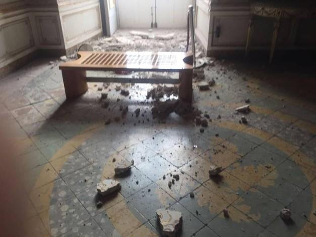 Reggia di Caserta, crollo nella 'stanza delle dame'