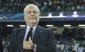"""Calcio Napoli, De Laurentiis: """"Sarri? Il produttore è più importante"""""""