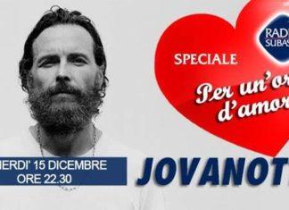 """Jovanotti a """"Speciale Per un'ora d'amore"""" su Radio Subasio"""