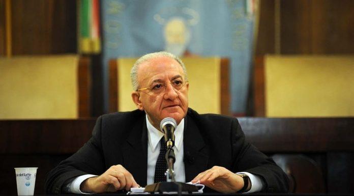 """Vincenzo De Luca: """"Luci d'Artista anche a Napoli al rione Sanità"""""""