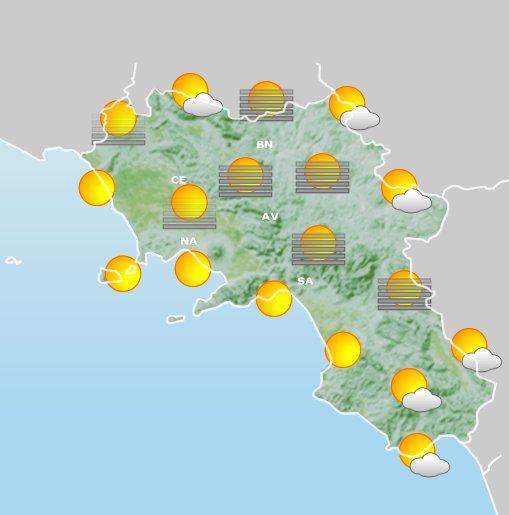 Meteo Campania, arriva l'estate di San Martino: sole e caldo