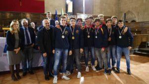 FIN Campania, i campioni del 2017 premiati al Maschio Angioino