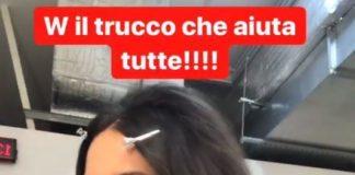 Caterina Balivo senza trucco e look da collegiale: le foto sul web