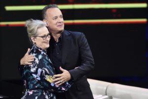 Che Tempo che fa: Hanks, Spielberg e Meryl Streep ospiti da Fabio Fazio