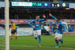 Ultimissime calcio Napoli: 2-0 all'Hellas Verona. Gli azzurri dominano e vincono
