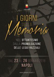 Comune di Napoli, il programma dei Giorni della Memoria 2018