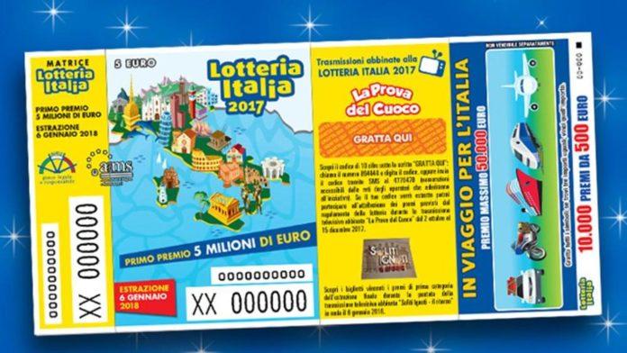 Lotteria Italia, il biglietto vincente da 5 milioni venduto ad Anagni