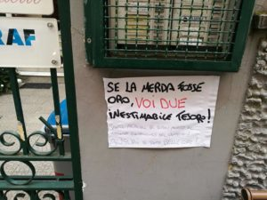 Cronaca di Napoli, movida: messaggio di insulti al Vomero contro due residenti