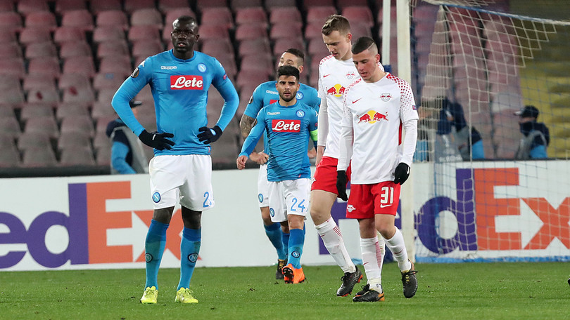 Calcio Napoli. Gli azzurri sfiorano l'impresa ma il 2-0 a Lipsia non basta