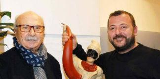 """Il maestro pasticcere Ciro """"Poppella"""" incontra lo scultore Luigi Buommino"""