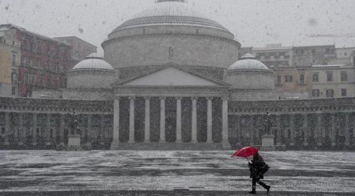 Allerta meteo Campania:Napoli -4. Ritorna la neve. Aggiornamenti
