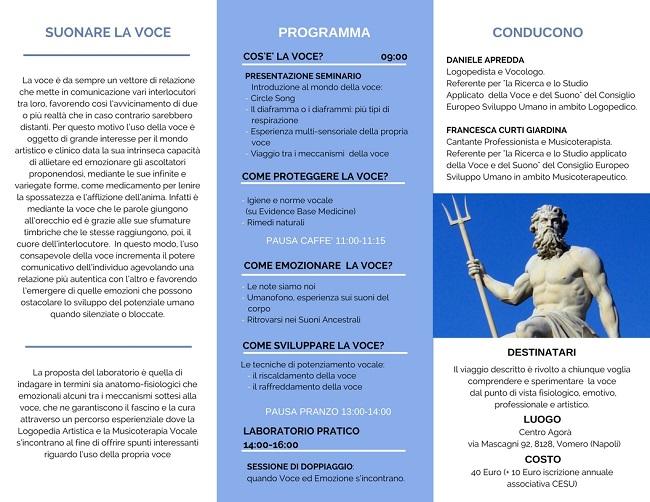 Suonare la voce, seminario a cura del Consiglio Europeo Sviluppo Umano