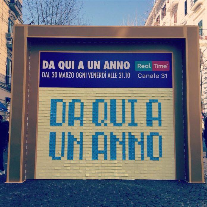Da qui a un anno, nel cuore di Napoli il muro degli obiettivi del programma