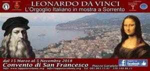 Leonardo Da Vinci, l'orgoglio italiano in mostra a Sorrento