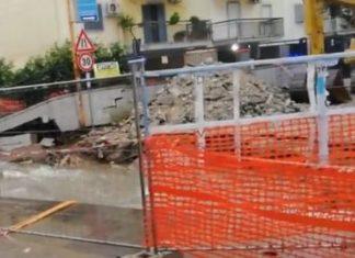 Maltempo in Campania: Paura a Giugliano per il crollo di un muro