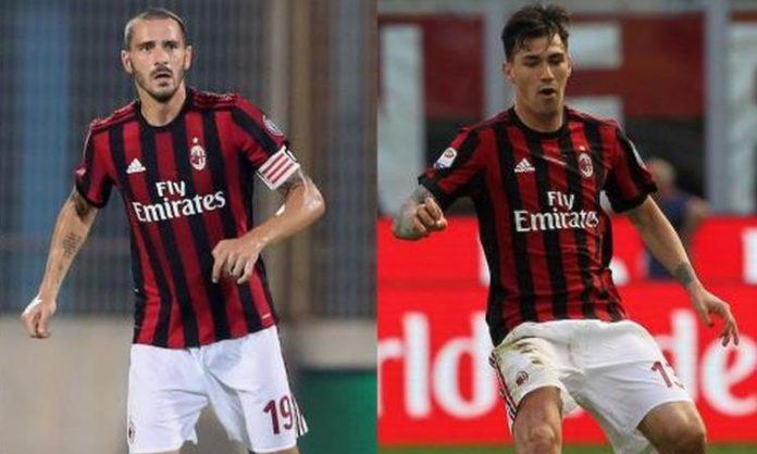 Serie A, domenica il Milan senza Romagnoli e Bonucci