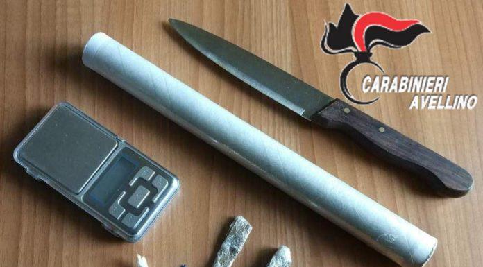 Avellino, un arresto a Taurano: l'uomo aveva hashish e cocaina negli slip