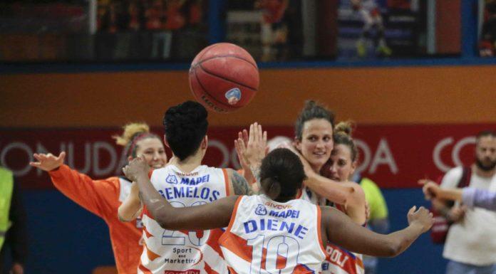 Basket, la Saces Mapei Sorbino spreca l'aggancio al secondo posto