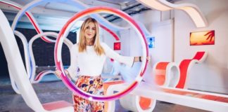 Diletta Leotta, la popolare giornalista al Milano Design Week 2018
