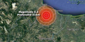 Molise, scossa di terremoto magnitudo 4.2: tanta paura ma nessun danno