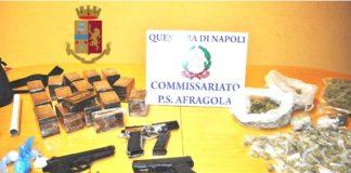 Afragola, arrestato 30enne incensurato: aveva droga e tre pistole