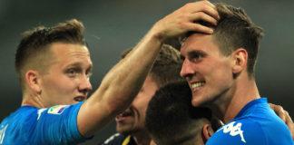 Calcio Napoli, a Torino Zielinski e Milik per la 'remuntada'