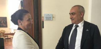 Ana Maria Oproiu visita il Cardarelli nel ricordo della tragedia di Bucarest