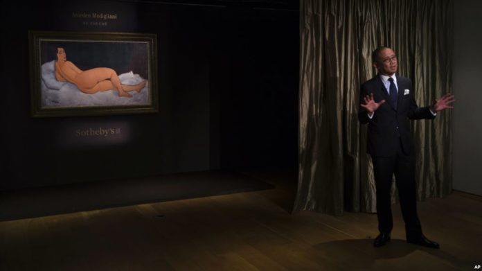 Nudo di Modigliani battuto all'asta per 157 milioni di dollari