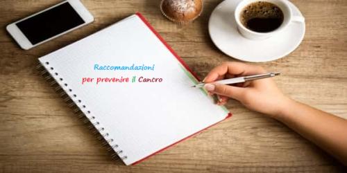 Cancro: dagli esperti USA 10 consigli per la prevenzione
