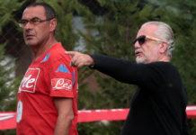 """Calcio Napoli, Sarri: """"A De Laurentiis posso dire solo grazie"""""""