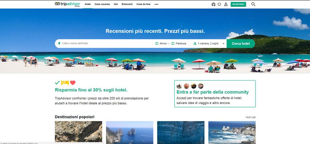 tripadvisor il motore di ricerca per i tuoi viaggi