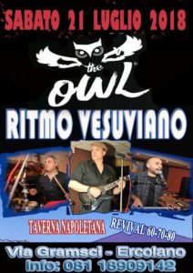 The Owl ad Ercolano tra musica anni 60-70-80 al Ritmo Vesuviano