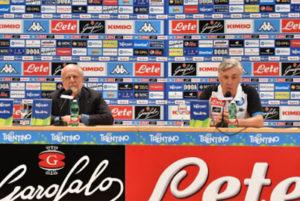 """Calcio Napoli, Ancelotti: """"Essere competitivi ovunque"""". ADL: """"Sarri? Dipende da lui"""""""