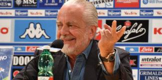 """Calcio Napoli, De Laurentiis: """"Voglio giocare la Champions a Bari"""""""