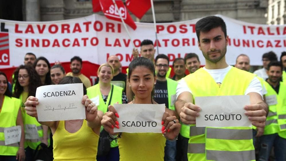 Poste italiane licenzia 8mila precari, appello a Di Maio
