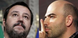 Diciotti, si riaccende lo scontro tra Salvini e Saviano
