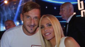 Francesco Totti e Ilary Blasi al lavoro per la sitcom Casa Totti